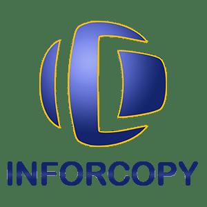 Logo_Inforcopy_vertical. Especialistas en fotocopiadoras