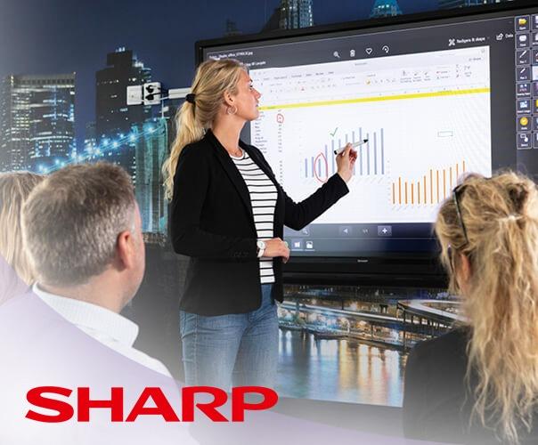 Sharp presenta sus nuevos productos en el ISE 2019